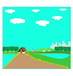 cattle farms vector image