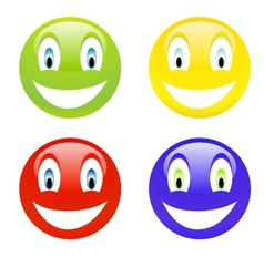 Color smile vector