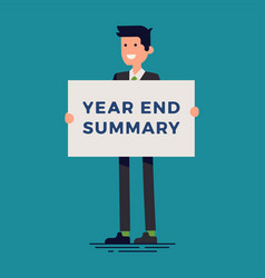 cool business company and corporate year end vector image