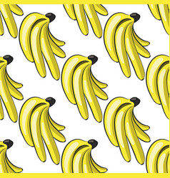 cute hand drawn bananas seamless pattern vector image