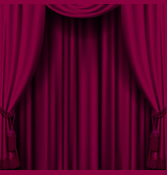 Dark red curtain vector