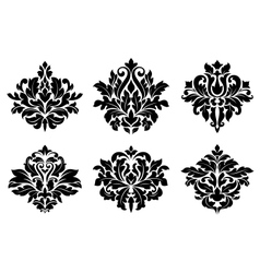 Decorative floral elements and embellishments vector