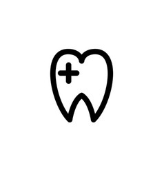 dental care icon vector image
