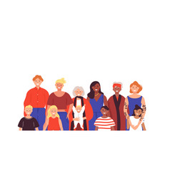 Female family group on isolated background vector