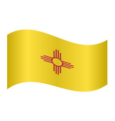 flag of new mexico waving on white background vector image