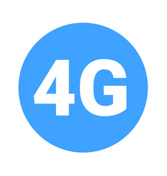 Fourth mobile generation - 4g icon vector
