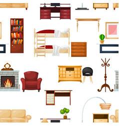 furniture furnishings design living-room vector image