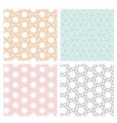 geometric diagonal line seamless pattern vector image