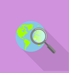 global find icon flat style vector image