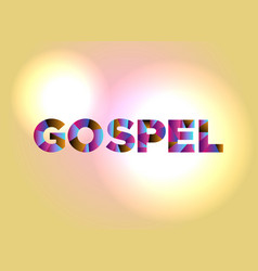 Gospel concept colorful word art vector
