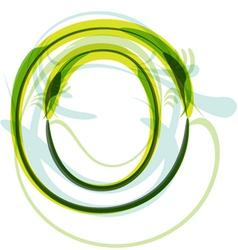 Green letter O vector