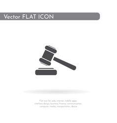 Hammer icon for web business finance and vector