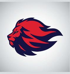 Lion logo sport mascot vector