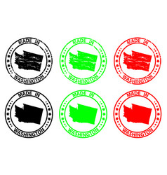 made in washington rubber stamp vector image