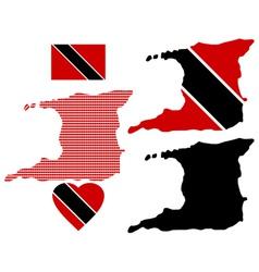 Map of the Republic of Trinidad and Tobago vector