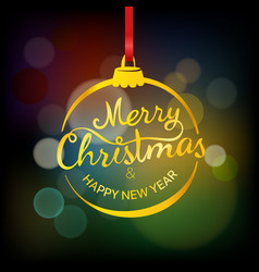 Merry christmas and happy new year wishing card vector