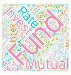 Mutual Funds How To Invest And Profit From Them vector image