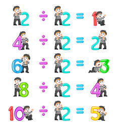 Number distribution from 1 until 5 vector