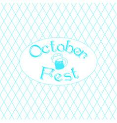 oktoberfest german beer festival vector image