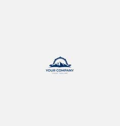 outdoors mountain compass logo vector image