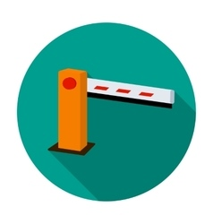 Parking barrier icon in flat style isolated on vector image