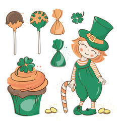 Patrick party saint day cartoon vector