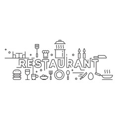 printrestaurant line art design culinary concept vector image