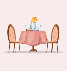 Restaurant table with reservation vector