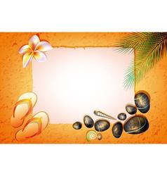 Romantic Orange Beach Backdrop vector image