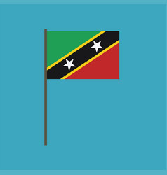 saint kitts and nevis flag icon in flat design vector image