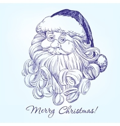 Santa Claus hand drawn llustration vector image