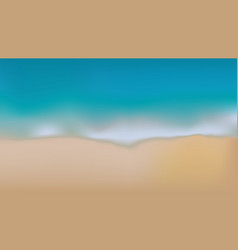 sea and sand blurry background vector image