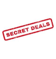 Secret Deals Rubber Stamp vector image