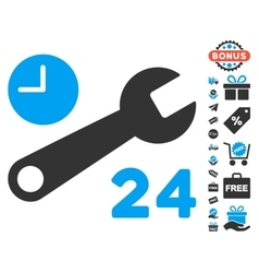 Service Hours Icon With Free Bonus vector image
