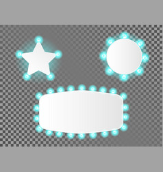 set of illuminated realistic casino banner vector image