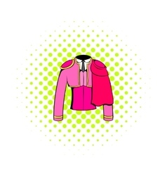 Spanish torero jacket icon comics style vector