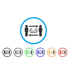 Swingers exchange rounded icon vector