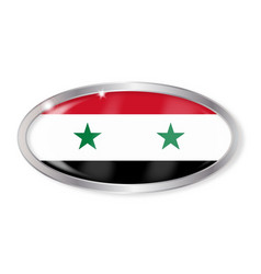 Syria flag oval button vector