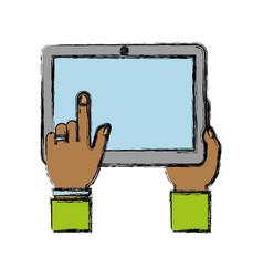 tablet device icon vector image