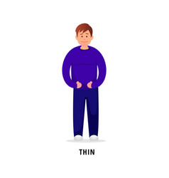 Thin man flat vector