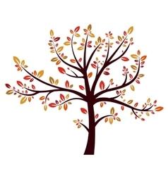 Tree autumn sign vector