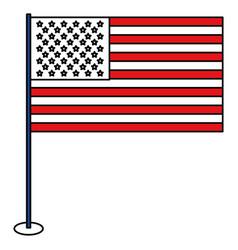 United statae of america flag vector