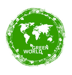 urban ecology green world flat concept vector image