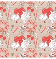 Valentine romantic seamless pattern with hearts vector image