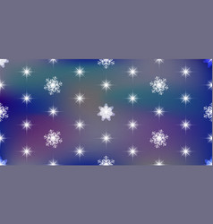 vivid background with snowflakes vector image