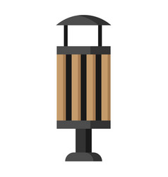 Wooden trash can image trash can vector
