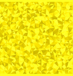 Yellow triangle mosaic background vector