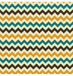 Zigzag retro seamless pattern vector image
