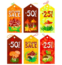 autumn tags set vector image vector image