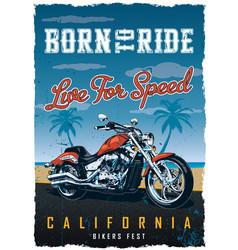 Bikers fest poster vector